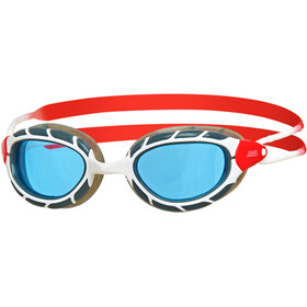Zoggs Predator Lunettes de protection, white/red/tint